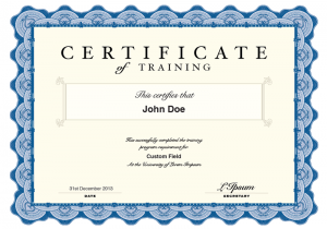 click image to open a sample pdf certificate